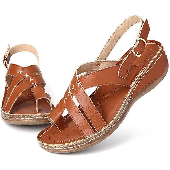 Buckle Summer Thong Sandals