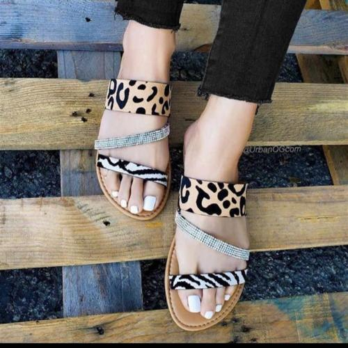 Sexy Flat Slip On Sandals