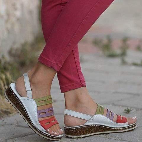 Elegant Wedge Hollow Simple Sandals