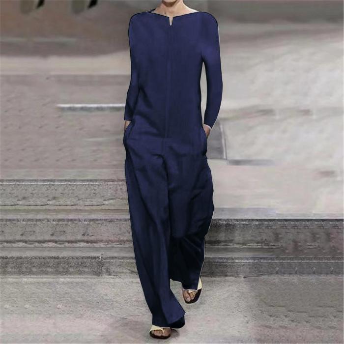 Women Cotton Linen Baggy Overalls Jumpsuits
