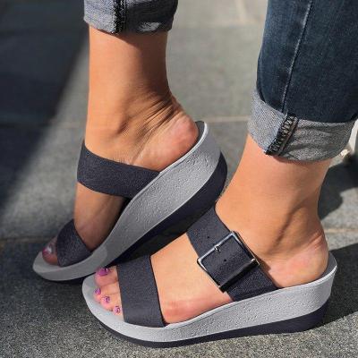 WOMEN LADIES SLIP ON SANDAL SHOES