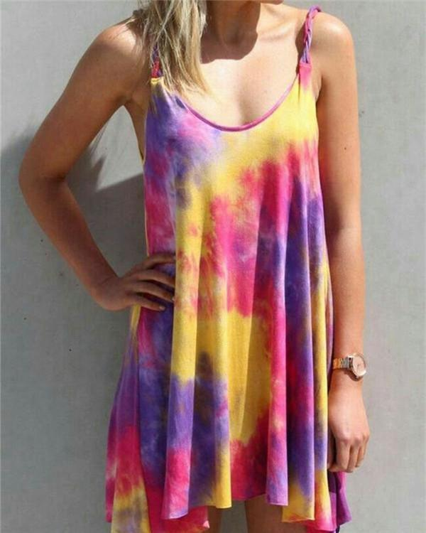 Printed Abstract V Neck Shift Daily Casual Mini Dresses