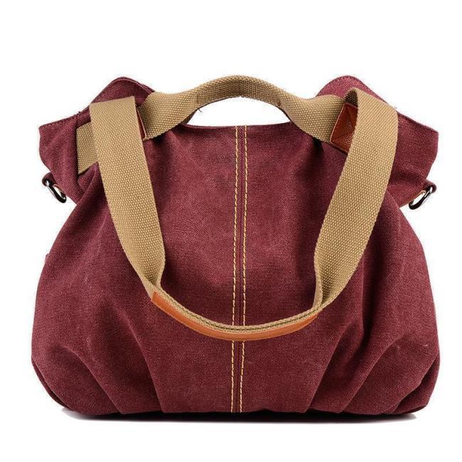 Vintage Canvas Tote Handbag Crossbody Bag