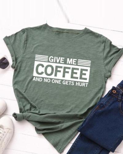 Women's Letter Print Women's Cotton T-Shirt