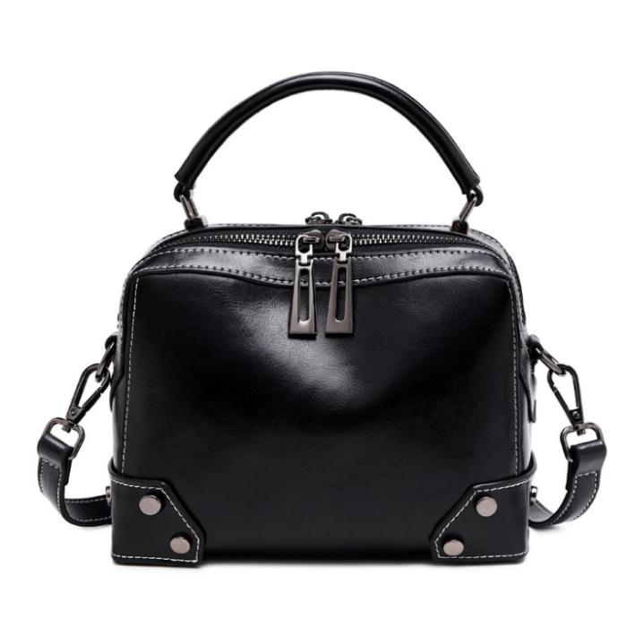 Lokeeda Bag: Woman Easy-matching Leather Handbag Shoulder Bag