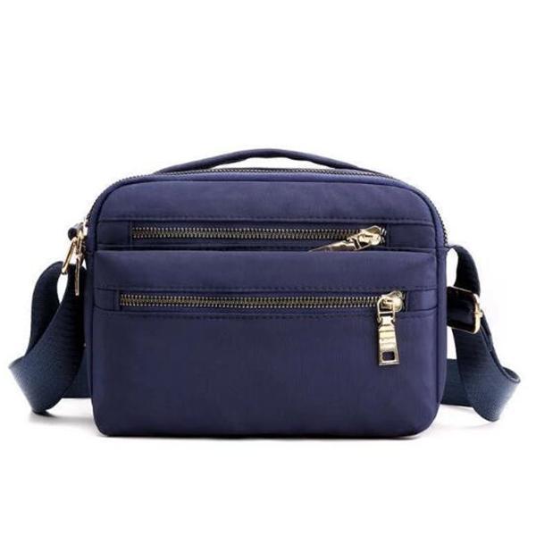 Elegant Stylish Waterproof Nylon Multi-pocket Zipper Crossbody Bags