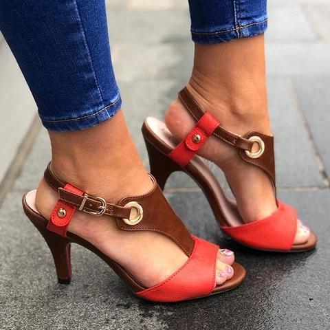 Stiletto Heel Buckle Spring/fall Pu Casual Women Sandals