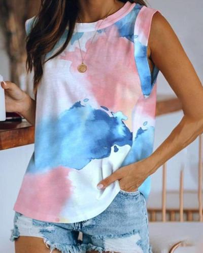 Summer Tie Dye Vest