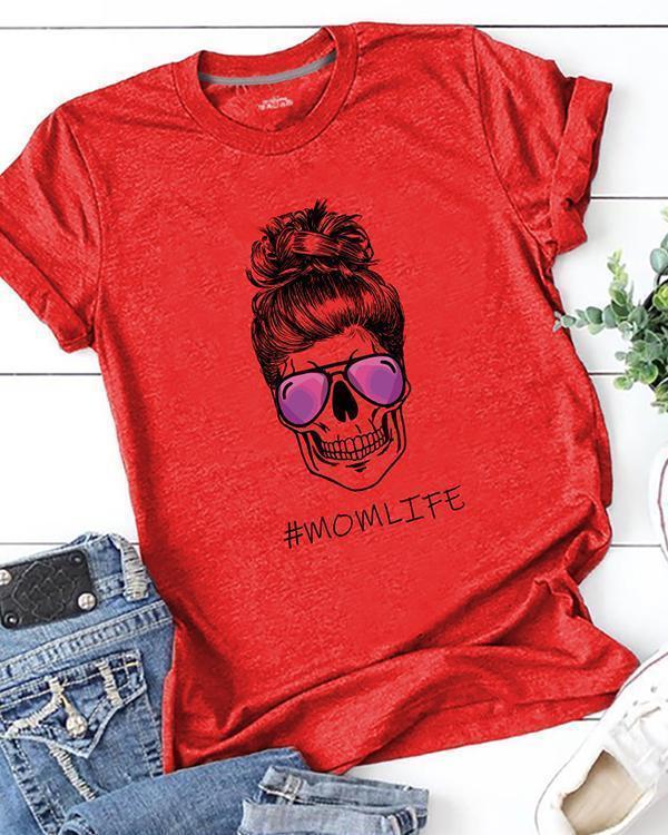 Mom Life Printed T-Shirt Tee