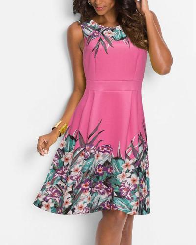 Floral Sleeveless Mini Dress Women Summer Dresses
