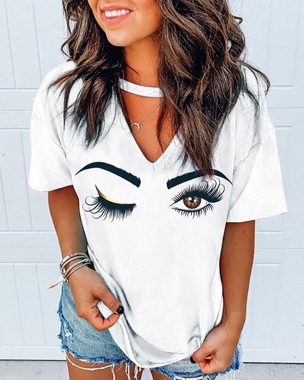Short Sleeve Printed Casual T-shirt