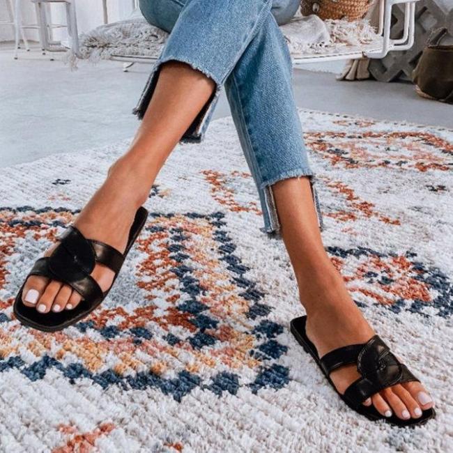 Pu Flat Slippers