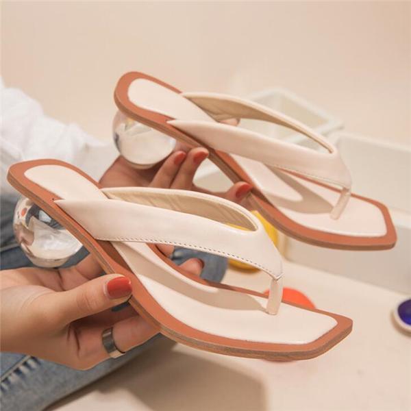 Fashion flip-flop round sandals