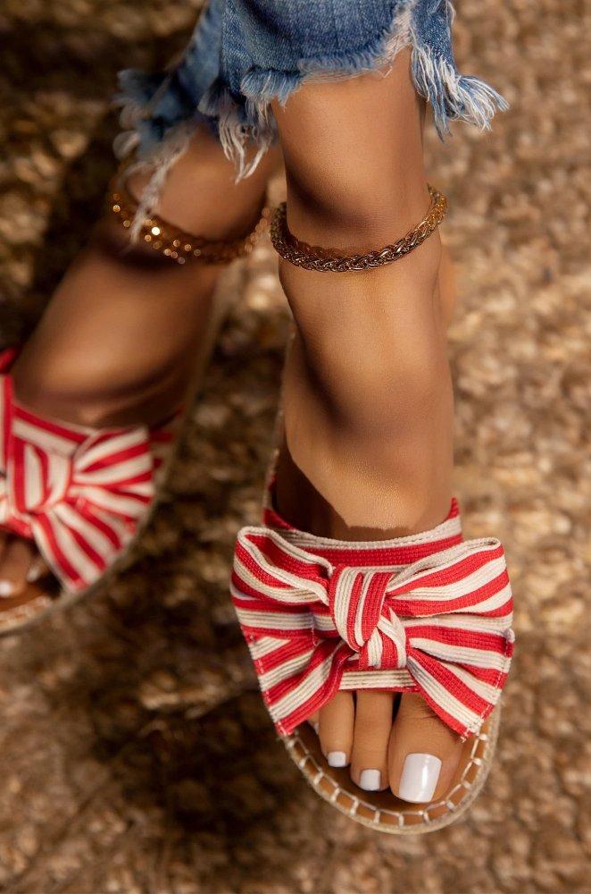 Bow Flat Heel Casual Sandals