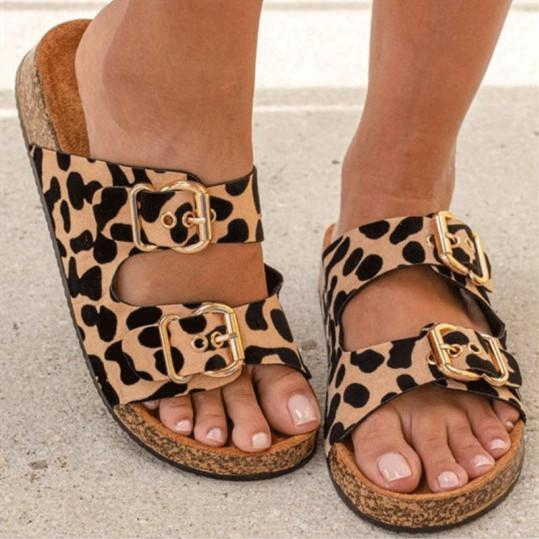 Leopard fashion casual sandals