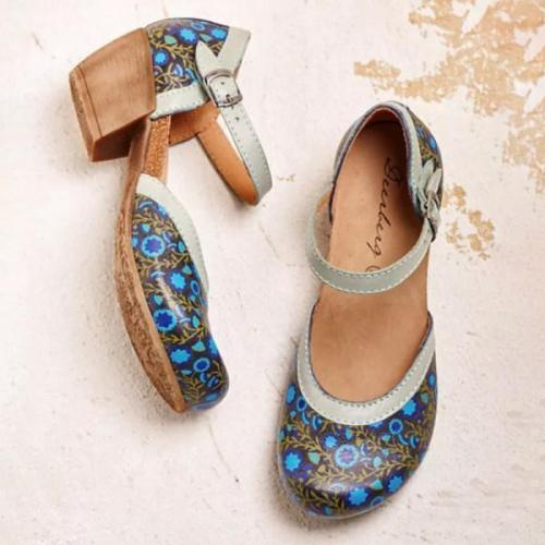 Women's comfortable mid-heel sandals