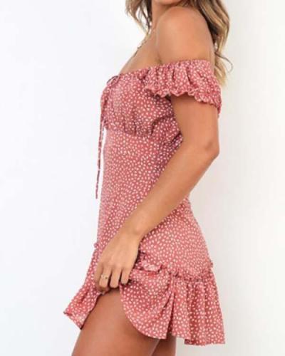 Little Floral Hot Style Print Mini Dress
