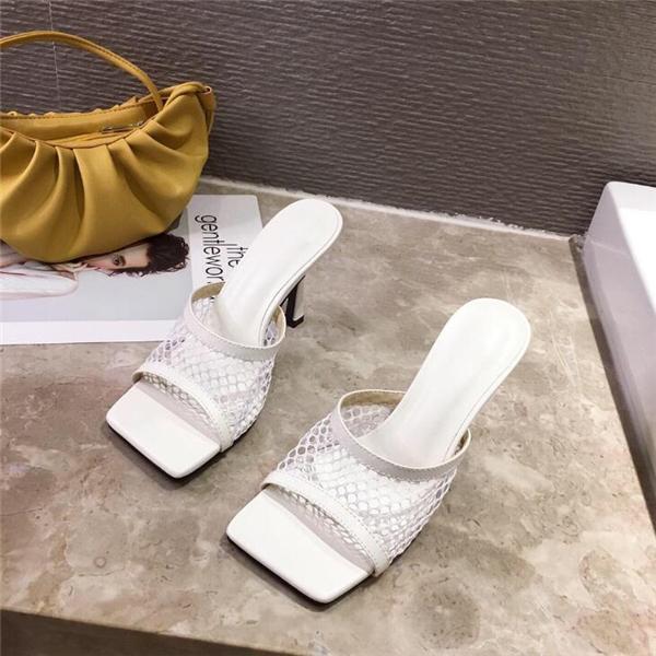 2020 Fashion High-heeled Net Sandals