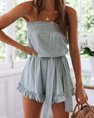 Ruffled Sexy Summer Rompers