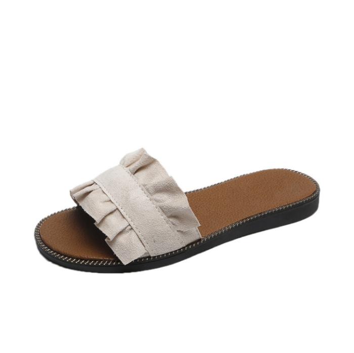 2020 New Fashion Woman Summer Flat Flower Pattern Sandals