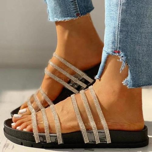 Studded Multi-strap Flat Sandals