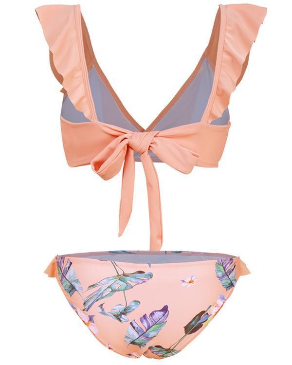 Ruffled Print Bikini swimsuit