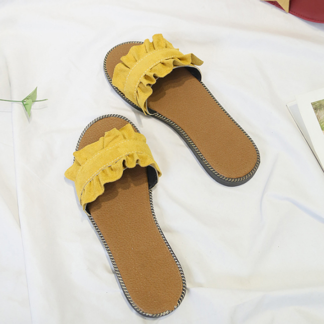 2020 New Fashion Woman Summer Flat Flower Pattern Sandals