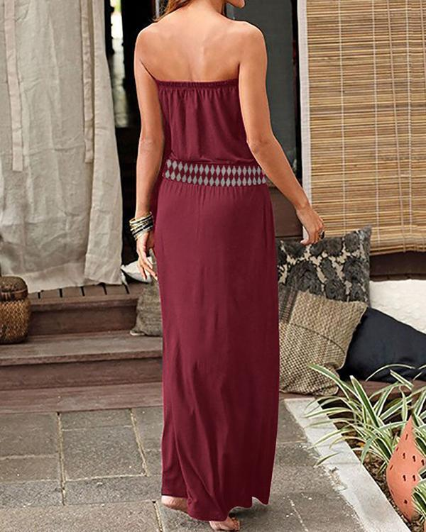 Casual Vintage Bohemia Maxi Dress