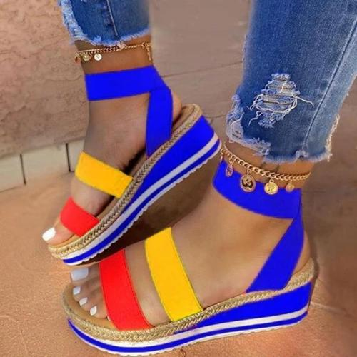 Open Toe Slip-On Platform Casual Thread Sandals