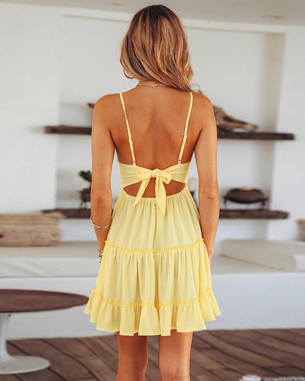 Tie Back Tank Style Summer Dress