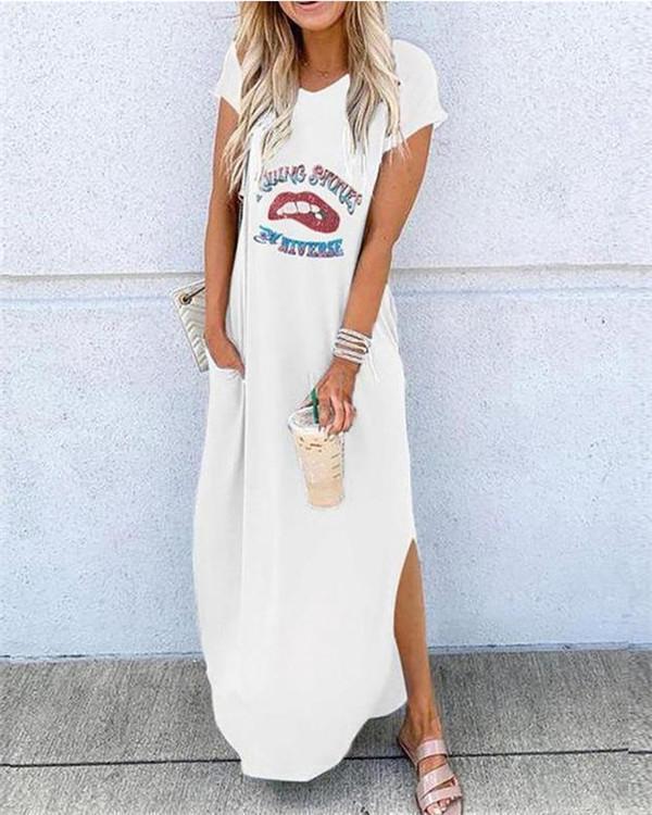 Short Sleeve Bohemian Fashion Summer Holiday Dresses