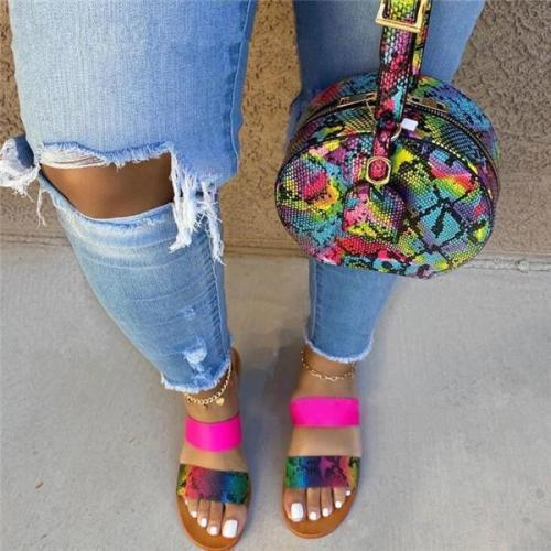 Women Summer Flat With Slip-On Candy Color Slippers