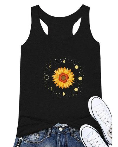 Floral Sleeveless Casual Shirts & Tops