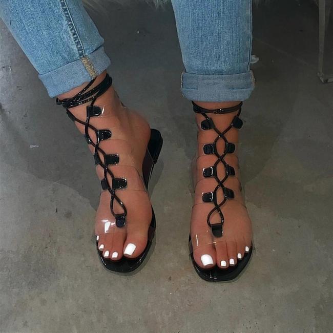 Women Lace Up Flat Sandals