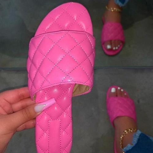 Women's fashion flat bottom comfortable slippers