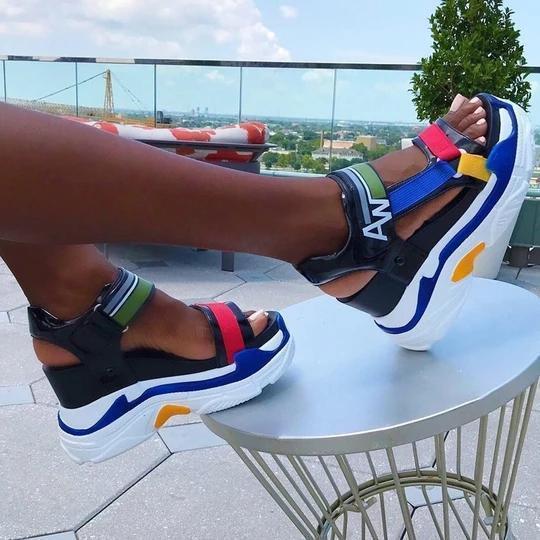 Open Toe Thread Casual Sandals