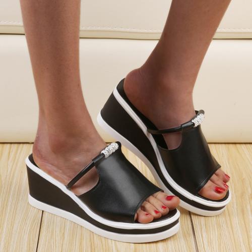 Peep-Toe Woman High-Heeled Platfroms Casual Wedge Sandals