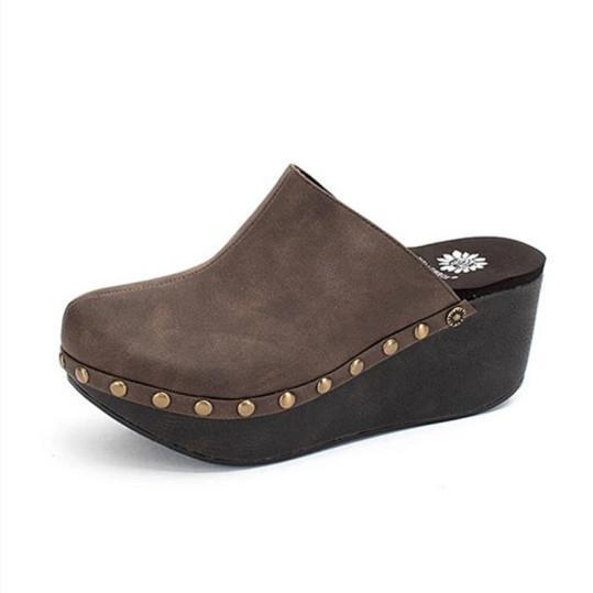 Women's comfortable wedge slippers