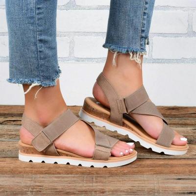 Women Elastic Band Lightweight Wearable Hook Loop Casual Sandals