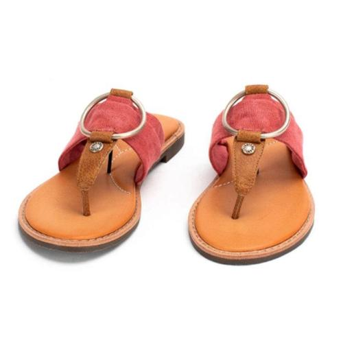 Summer Rubber Flat Heel Sandals