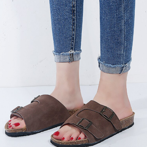 Women's Open Toe Slippers Casual Solid Color Loose Sandals