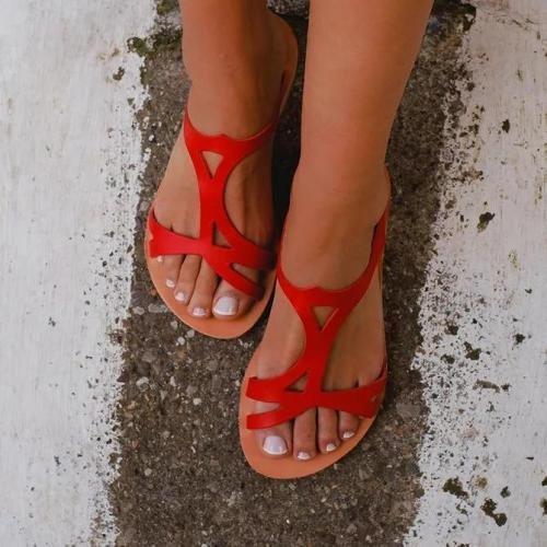 Open Toe Slip On Slippers
