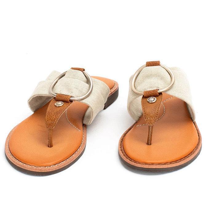 Summer Rubber Flat Heel Sandals