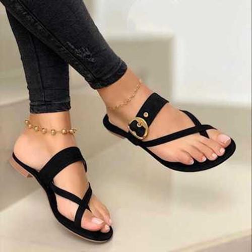 Summer Flat Heel  Plus Size Sandals