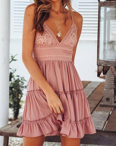 Tie Back Tank Style Summer Dress