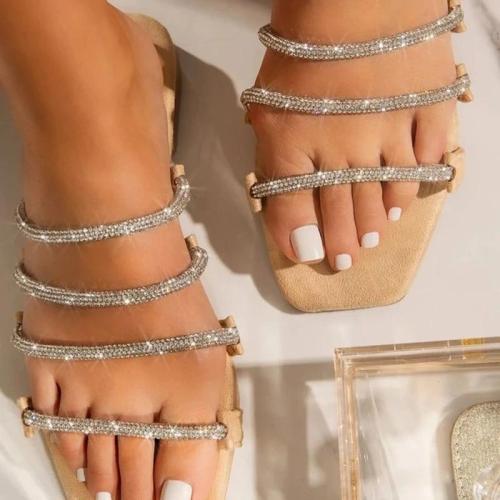 Flip Flop Block Heel Slip-On Casual Sweet Slippers