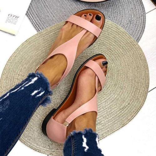 Women's Comfortable Flat Open Toe Buckle Sandals