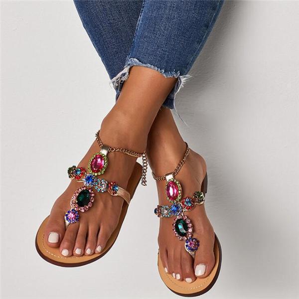 Roman Aneikeh Rhinestone Sandals
