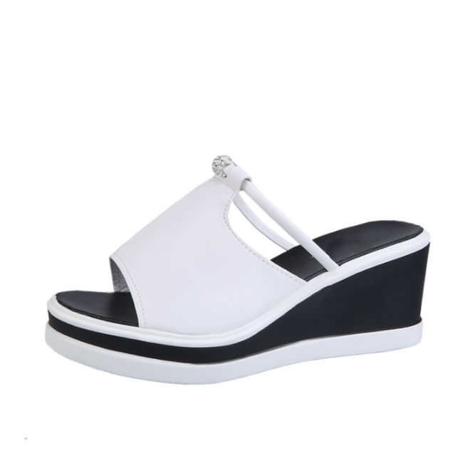 Peep-Toe Woman High-Heeled Platfroms Casual Wedge Sandals