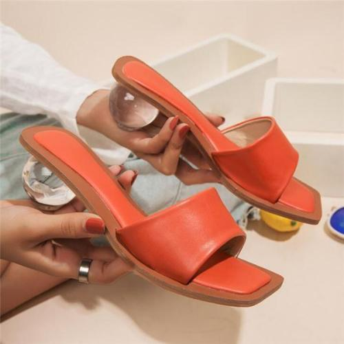 Fashion Slip-On Round Sandals